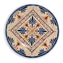Prato De Parede Decorativo Azulejo Ø20cm Acompanha Suporte de Parede - Própria