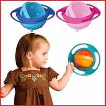 Prato Giratorio Tigela Infantil Pratinho Magico Não Derrama A Comida Gyro Bowl Pratinho Do Bebe - Azul - Megafun