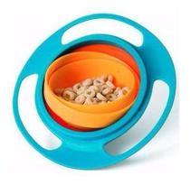 Prato Giro Bowl Blister Azul De Bebe Buba Baby Tigela Refeição Potinho De Alimentacao Prato Magico Giratório -
