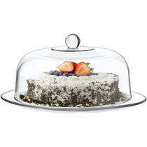 Prato para bolo com tampa selene 33cm vi - Libbey / Crisa  - G (523)