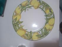 Prato Raso com detalhes de Limão para almoço e jantar com 06 pcs - Alleanza