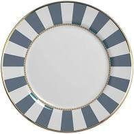 Prato raso em cerâmica blue strip - 1un - Alleanza