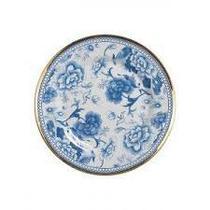 Prato sobremesa em cerâmica chinese blue filete ouro - 1un - Alleanza