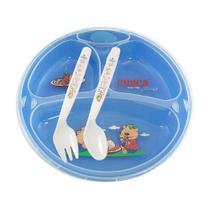 Prato termico infantil chuca baby 3 divisoes c/ ventosa - azul -