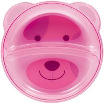 Prato ursinho com divisória Buba rosa -