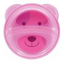 Prato ursinho com divisoria - rosa - 5812 - Buba