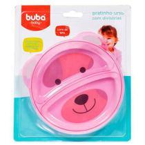 Prato Ursinho Com Divisórias Rosa - Buba -