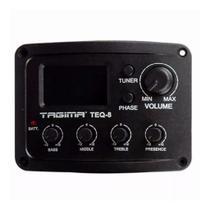 Pré Amplificador Tagima TEQ8 Afinador Cromático Violão/Viola -