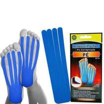 Pré-cut aplicação pé kinesio-pahuer - azul - Ortho Pauher -