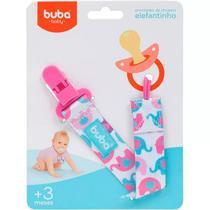Prendedor De Chupeta Elefantinho Rosa Buba - Buba toys