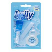 Prendedor de Chupeta Oceano com 1 (uma) unidade e argola flexível na cor azul. - Lolly (lolni)