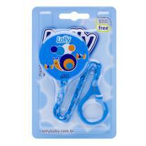 Prendedor de Chupeta Zoo com 1 (uma) unidade na cor azul. - Lolly (lolni)