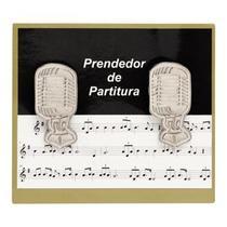 Prendedor Partitura Hinário Clipet Microfone Paganini PPT086 -