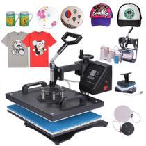 Prensa Térmica Manual 8 em 1 - Camisetas - Bones - pratos - Canecas - Azulejos e Chinelos - Sun Special