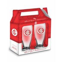 Presente Pai - Copo Cerveja Inter 200ml - 2 unidades - Brasfoot -