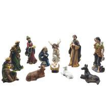 Presépio 12cm Resina Com Menino Jesus Solto 11 Peças Espressione Christmas -