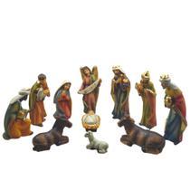 Presépio 15cm Resina Com Menino Jesus Solto 11 Peças Espressione Christmas -