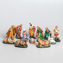 Presépio 20cm 12 peças Italiano Gesso Colorido - Odorizzi