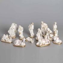 Presépio 20cm 12 peças Italiano Gesso Perolizado - Odorizzi
