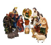 Presépio Com 11 Peças 48cm - Enfeite Resina Decoração Natal - Taimes