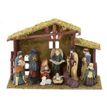 Presepio Com Estabulo 12x37cm Nascimento Espressione Christmas -