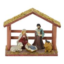 Presepio Com Estabulo 8x18cm Nascimento Espressione Christmas -