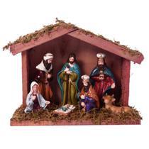 Presepio Com Estabulo Nascimento 16cm Espressione Christmas -