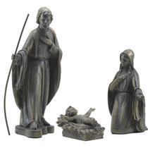 Presépio de 3 peças estilo Barroco em látex - inquebrável - Católico Sou