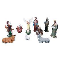 Presépio de Natal Coleção com 11 peças de 15 cm em Resina - Armazém Santo
