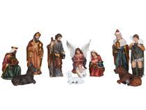 Presépio de Natal Completo 11 Peças 12,5 Cm Resina Importado - Sacro