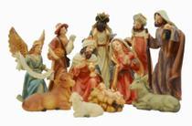 Presépio De Natal Maria Jesus Três Reis Magos 11 Personagens - Bmk