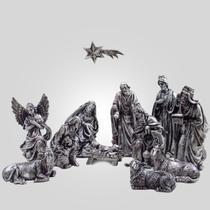 Presépio Natalino 12 peças metalizado de Borracha - Católico Sou