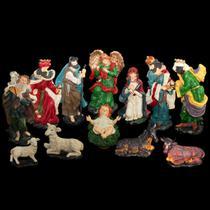 Presepio resina com 12 peças 49cm (1159) - centro oeste - C.O