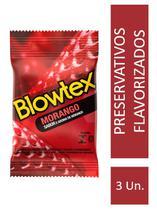 Preservativo Blowtex Morango c/ 3 Unidades -