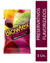 Preservativo Blowtex Tutti-Frutti c/ 3 Unidades -