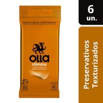 Preservativo Lubrificado Olla Stimulus c/ 6 Camisinhas -