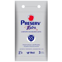 Preservativo Preserv Extra c/ 3 Camisinhas -