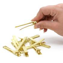 Presilha Bico de Pato Ouro 6,5 cm - 10 Unidades - Nybc