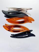 Presilha Folha Bico De Pato Resina Hair Clip 6 unidades - Marita Padin