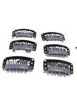 Presilha Tic Tac para apliques, perucas e alongamentos 10un marrom - Lynx Produções Artistica