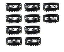 Presilha Tic Tac para apliques, perucas e alongamentos 10un preto - Lynx Produções Artistica