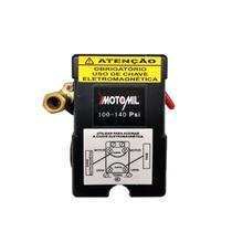Pressostato Automático 100/140lbs 4 Vias Alavanca Motomil -