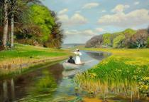 Primavera (1896) - Hans Brendekilde - Tela 60x88 Para Quadro - Santhatela