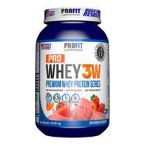 Pro Whey 3W 907g - Morango - Profit -