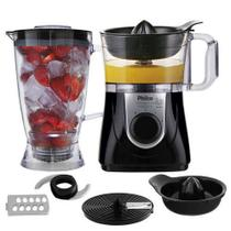 Processador All In One Citrus Preto 1,2L + Liquidificador 2,2L + Espremedor de frutas 800W - Philco 127v
