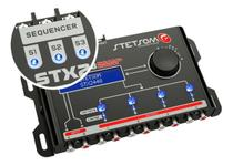 Processador Audio Automotivo Stetsom STX-2448 4 Canais Digital Crossover Equalizador Gain Delay Phas -