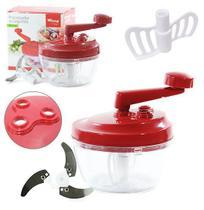 Processador de alimentos / batedor manual c/ 3 lâminas - Wincy