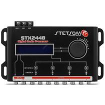 Processador de Audio Digital Stetsom STX2448 Equalizador Crossover 2 Canais 4 Vias Som Automotivo -