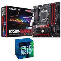 Processador Intel Core i5 7400 7ª Geração + Placa mãe B250M Gaming 3 Gigabyte - Kit upgrade Comprebel -
