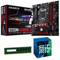 Processador Intel Core i5 7400 7ª Geração + Placa mãe B250M Gaming 3 Gigabyte + Memória 8GB DDR4 Kit upgrade Comprebel - Msi